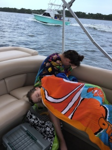 That much ocean will wear you out, but the ultra-comfy boat put both my girls to sleep on the way back to shore.